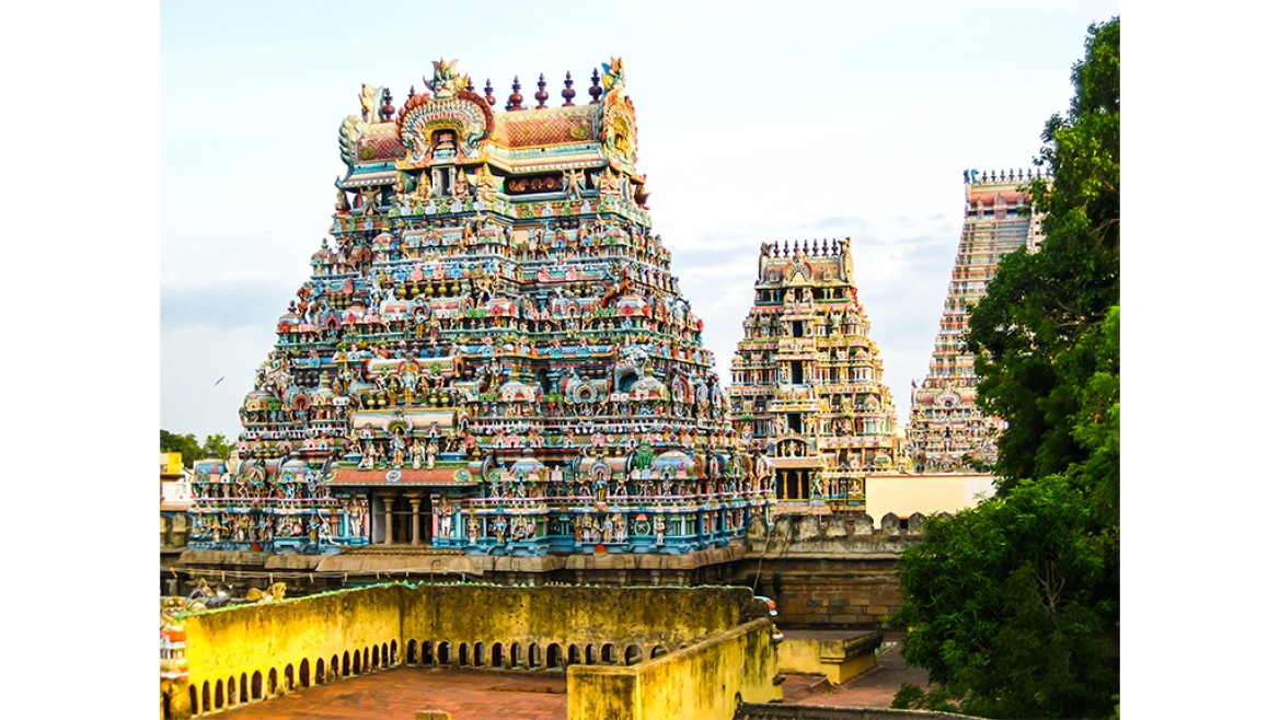 View of Srirangam Temple