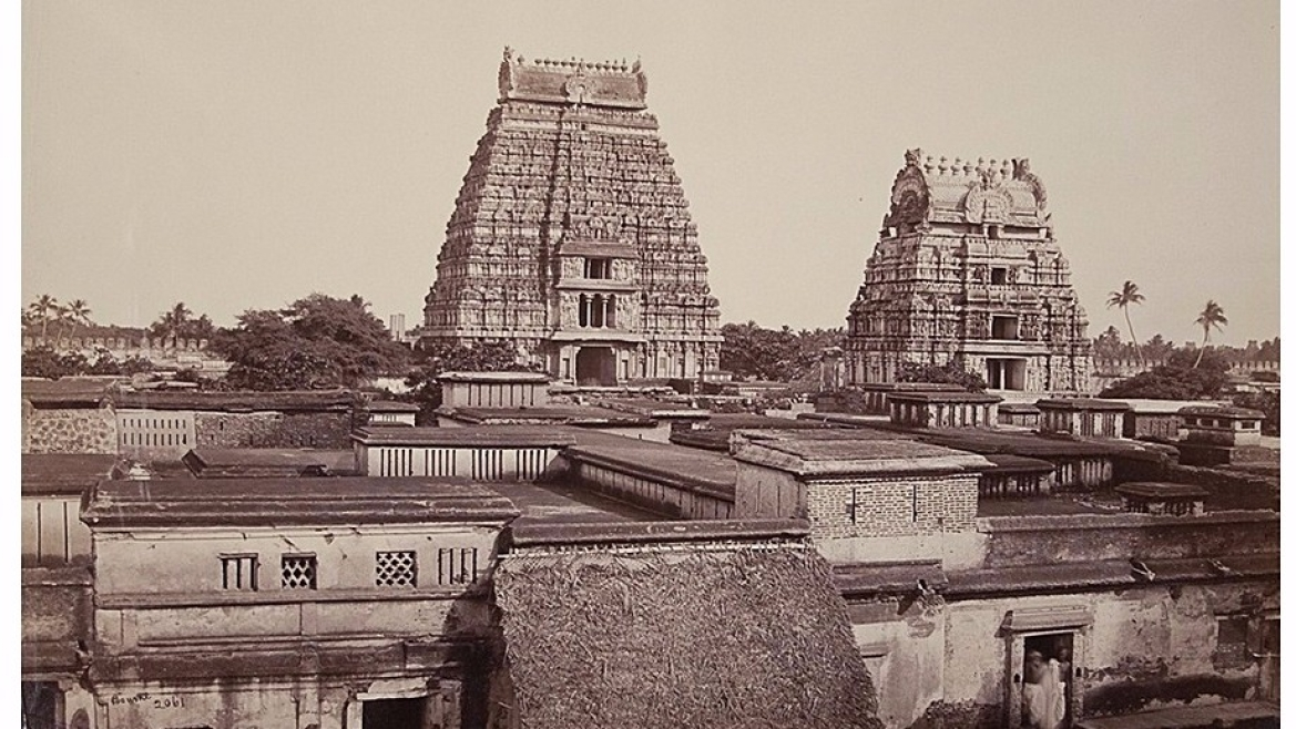 Srirangam tower in 1869 CE