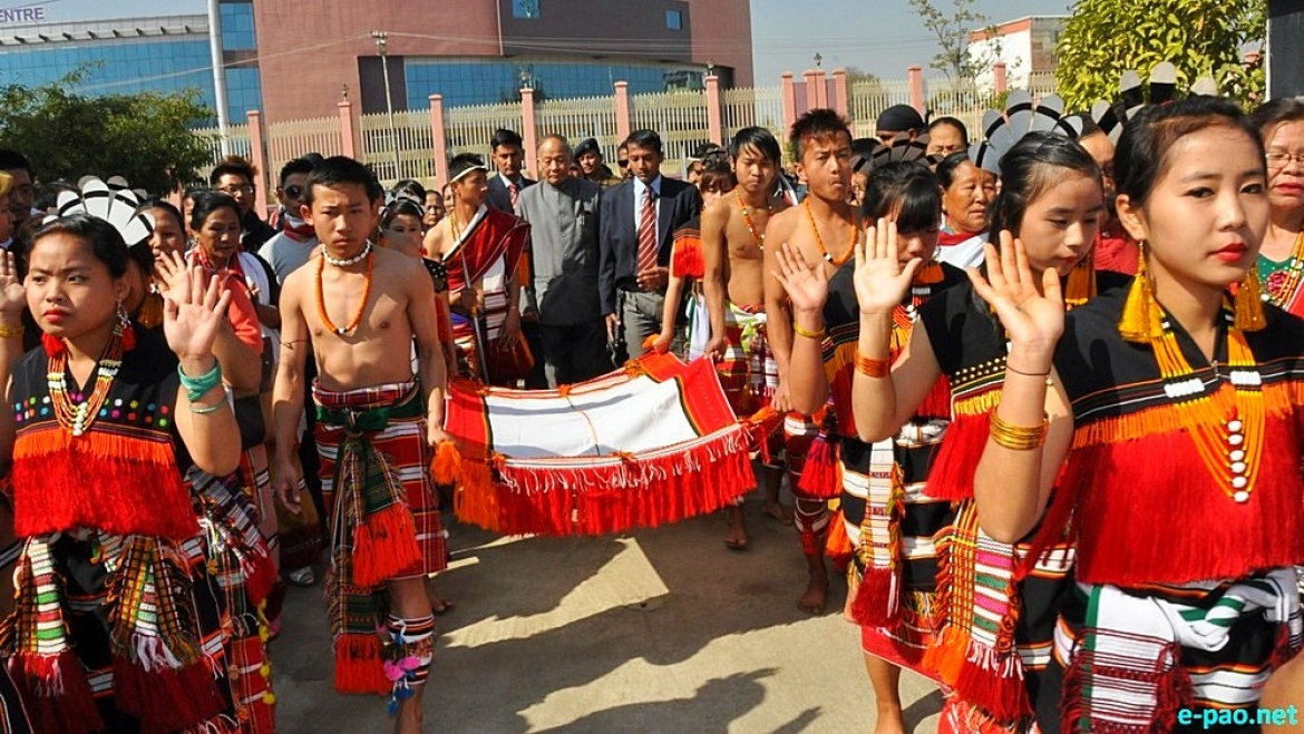 Zeliangrong celebrating the birth Centenary of  Rani Gaidinliu at Imphal, Manipur in 2015