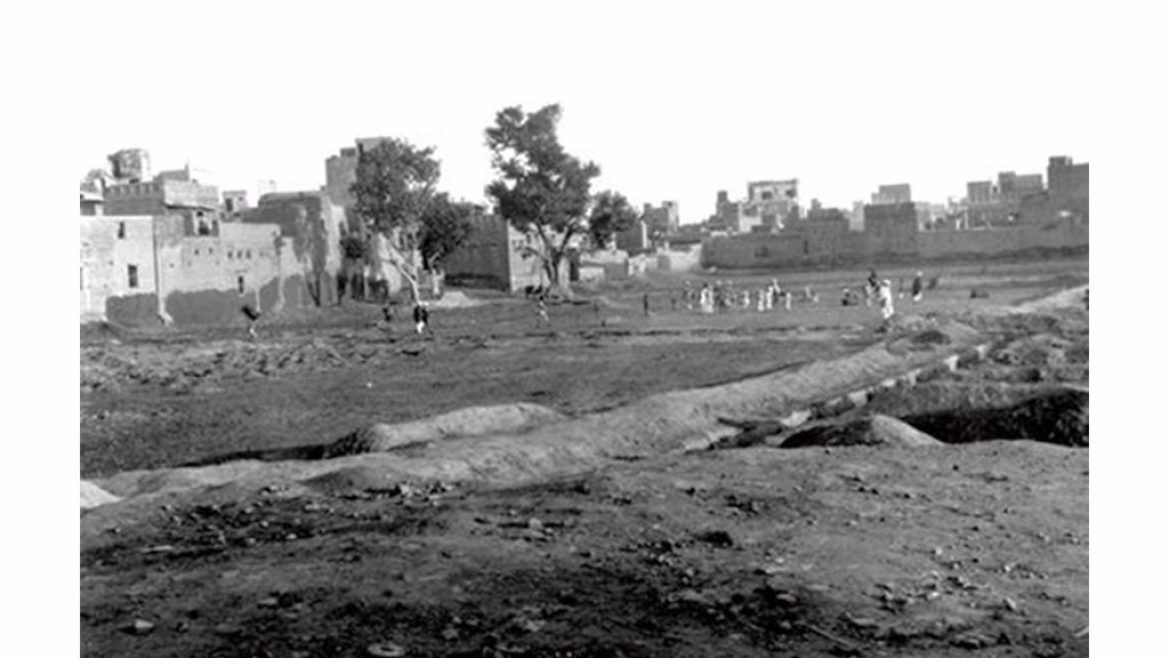 Jallianwala Bagh a few weeks after the massacre in 1919