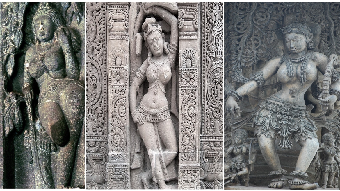 Sculptures of Yakshis