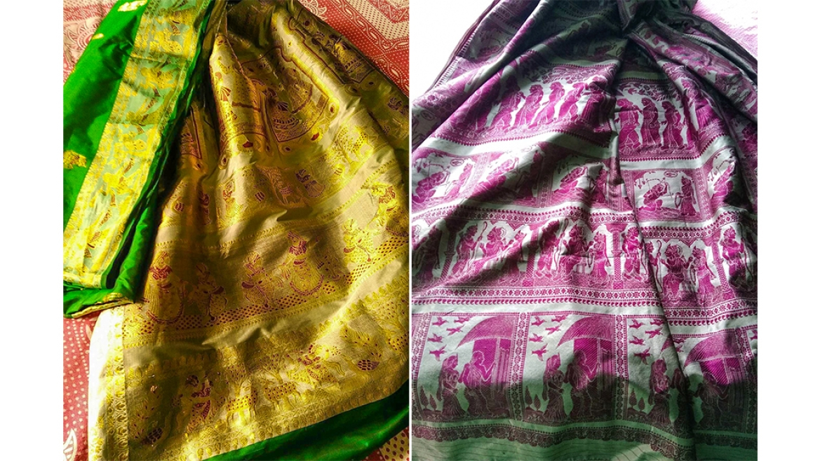 Vibrant Baluchari Weaves