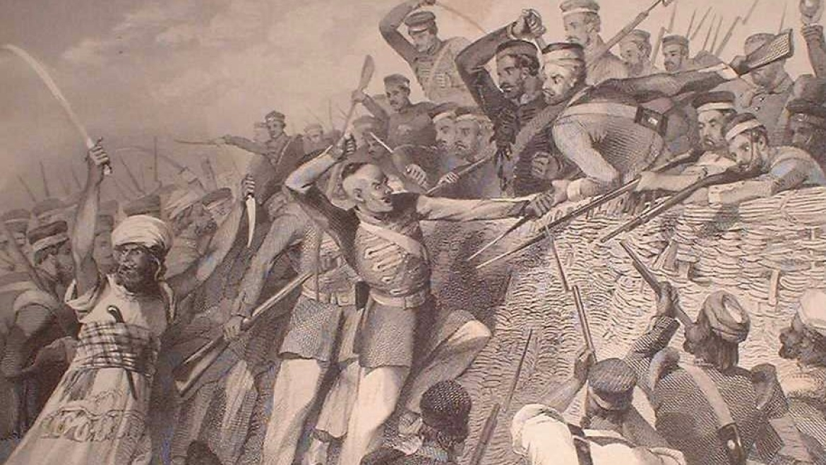 Attack of the Mutineers on the Redan Battery at Lucknow, 1857