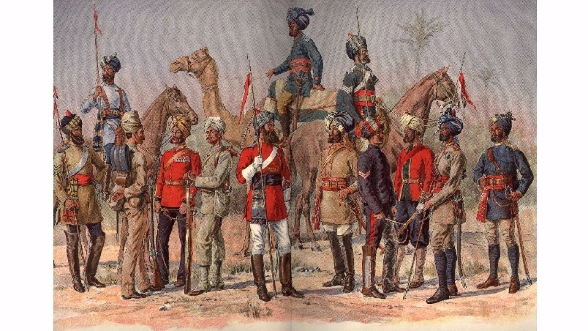 Sepoys of the Madras Army in the early 1800s