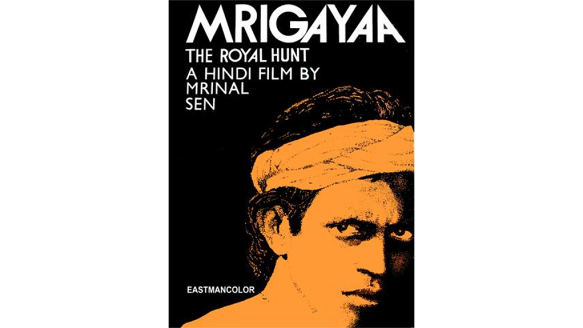 A poster of the Mrinal Sen movie <i>Mrigayaa </i>based on the Santhal Rebellion