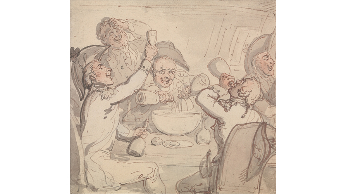 'Naval Officers and a Bowl of Punch'  by Thomas Rowlandson c. 1790