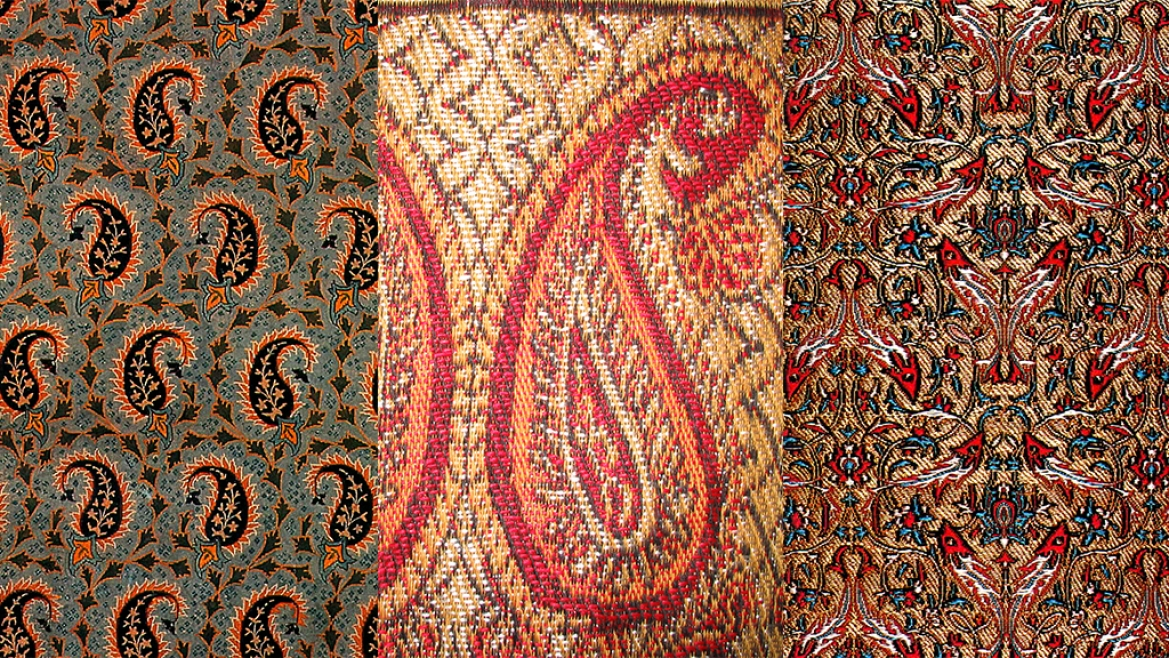 Persian motifs that were incorporated into Banarasi Silk