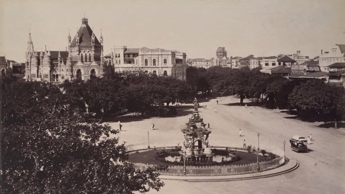 Flora fountain, Bombay, 1896