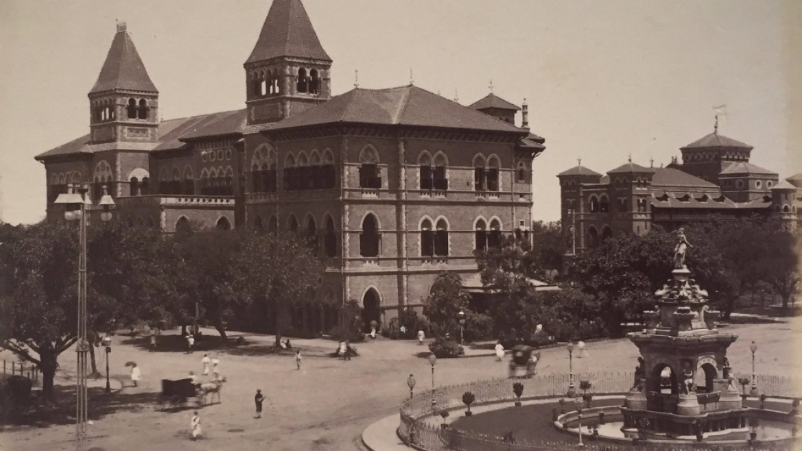 Central Telegraph Office and Flora Fountain, Bombay, 1873