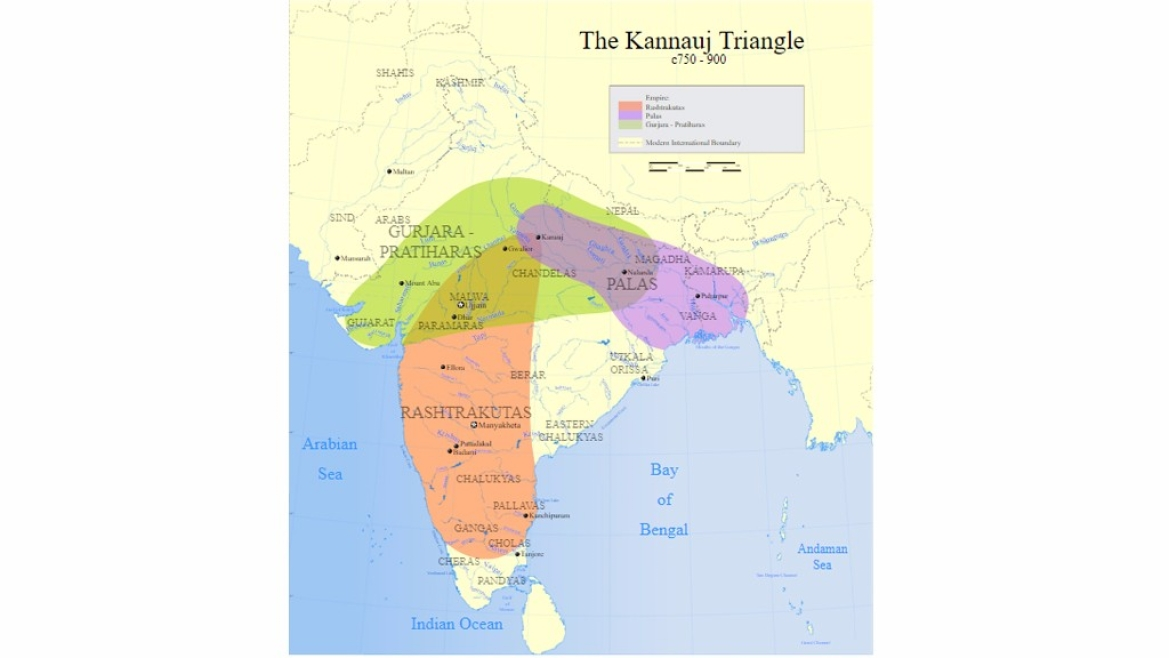 The kingdoms vying for Kanauj