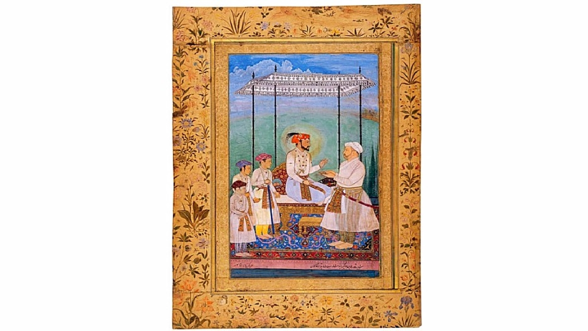 Emperor Shah Jahan with his three sons