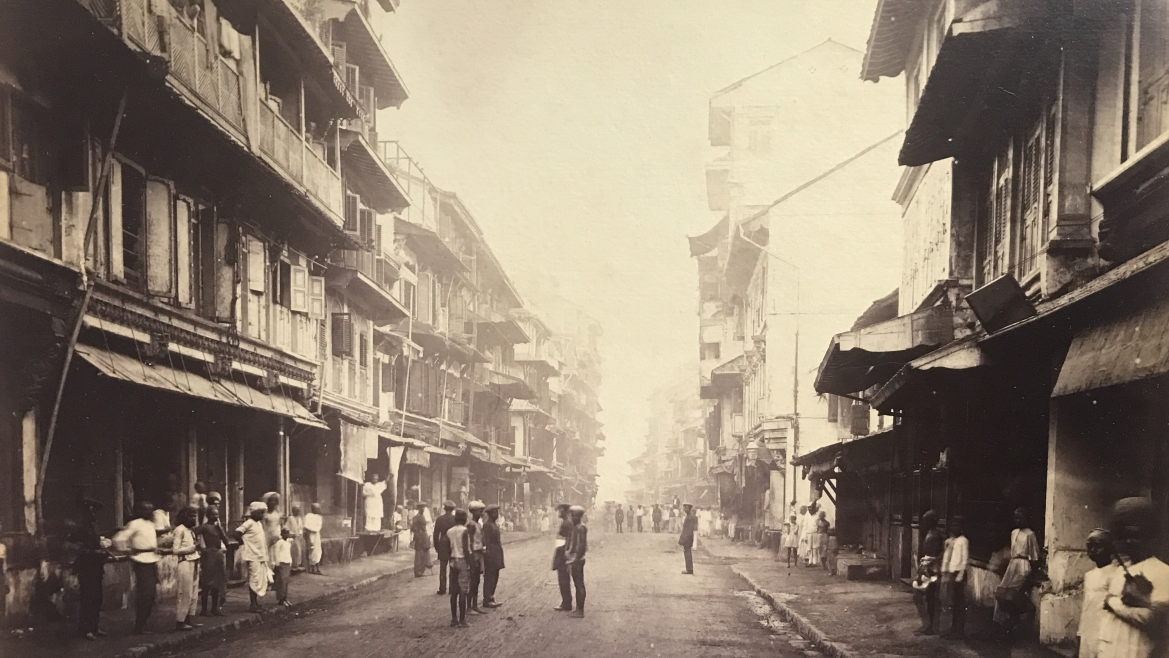 Borah Bazaar Bombay, Colin Murray for Bourne and Shepherd, 1870-71