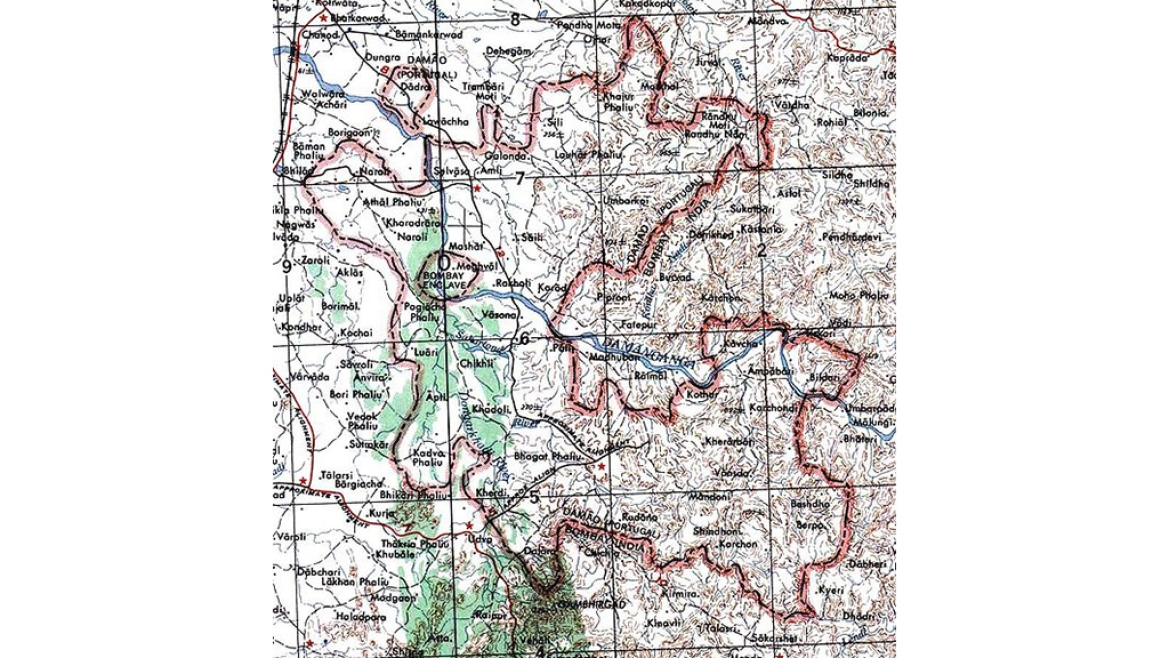 Map of Dadra and Nagar Haveli from 1956