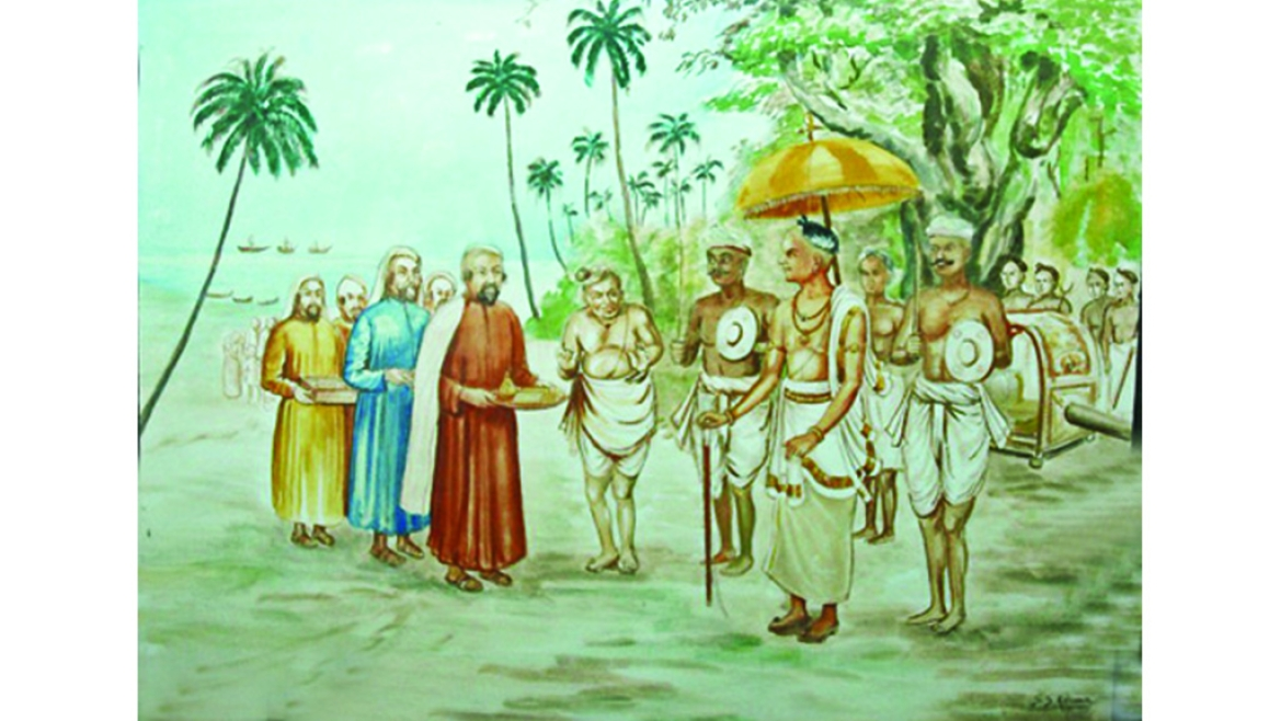 Jews being received  by the Hindu king