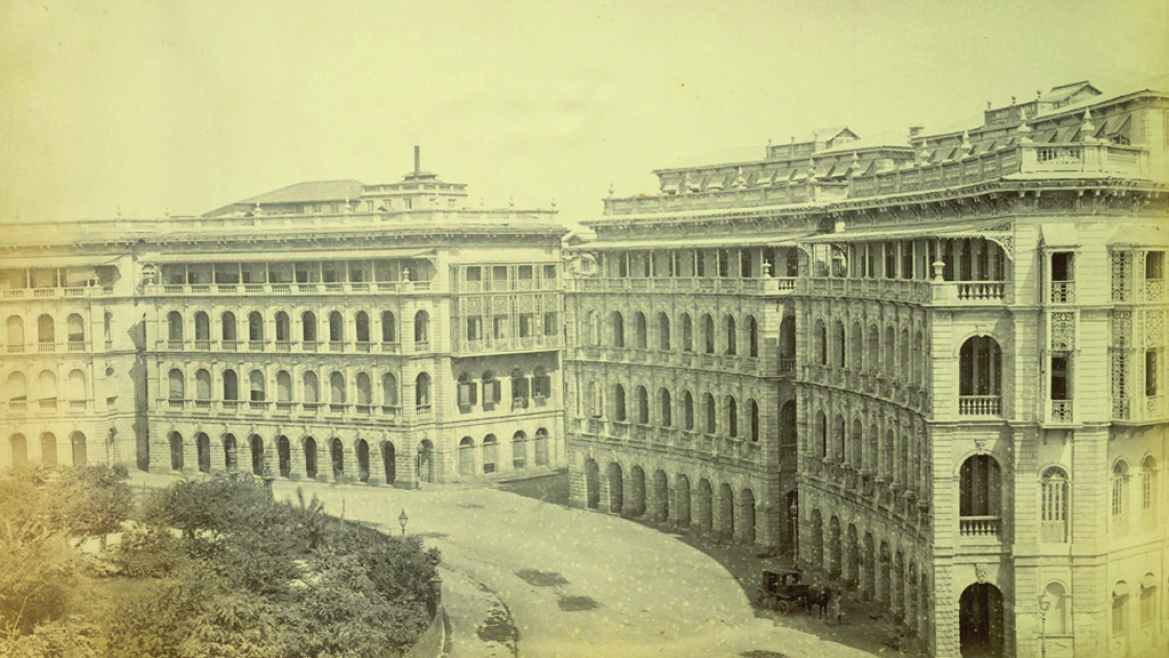 Elphinstone Circle, Bombay in the 1870s