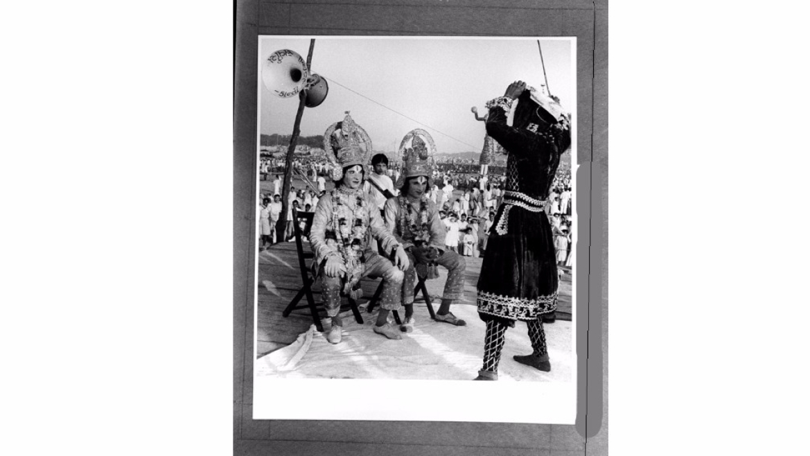 A still from Ramleela performed in Delhi, 1949