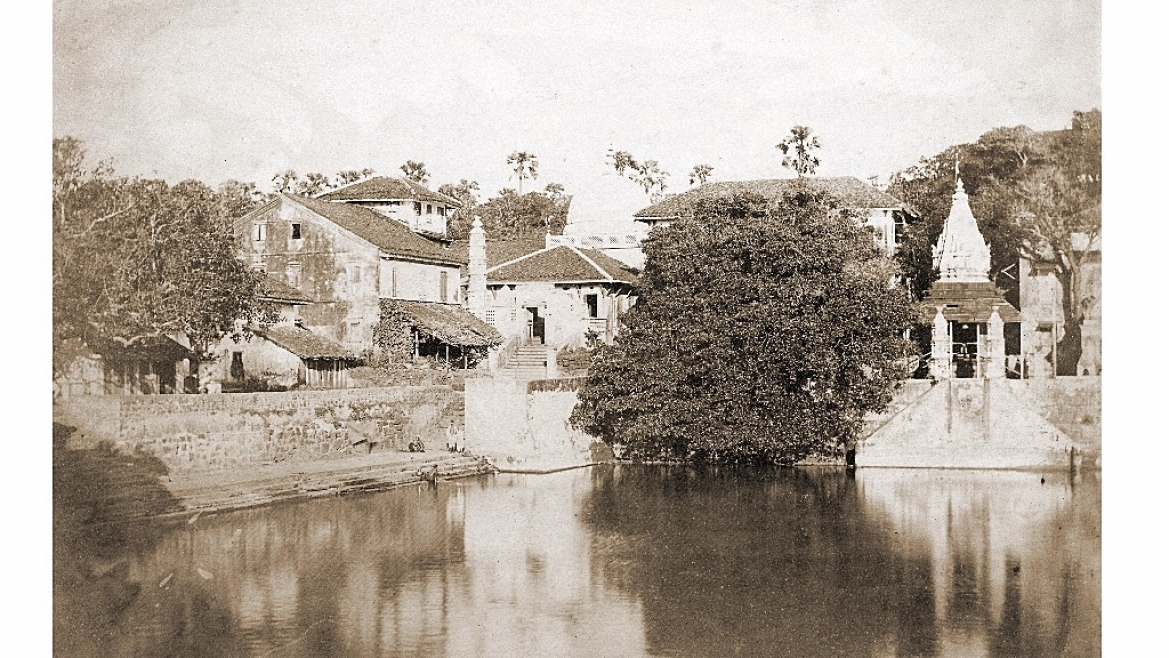 Photograph of Banganga Tank, 1855