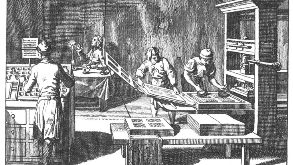 Sketch of a lithographic press