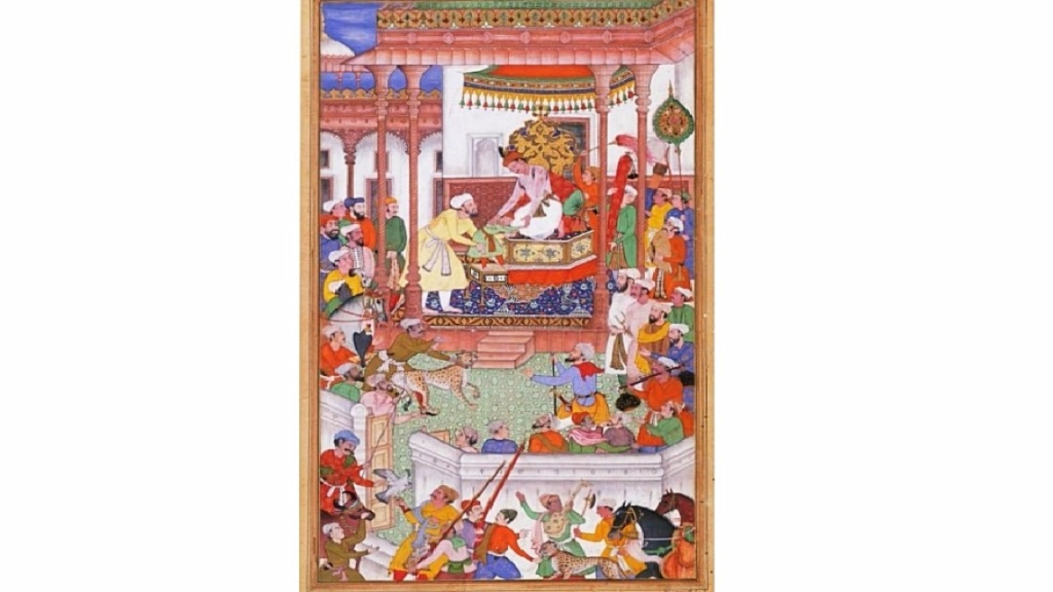 Young Abdul Rahim Khan-I-Khana being received by Akbar