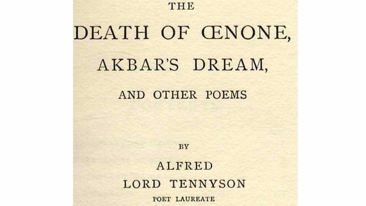 Book - Akbar's Dream by English poet  Lord Alfred Tennyson