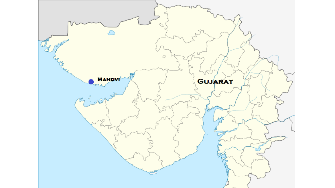 Map showing Mandvi