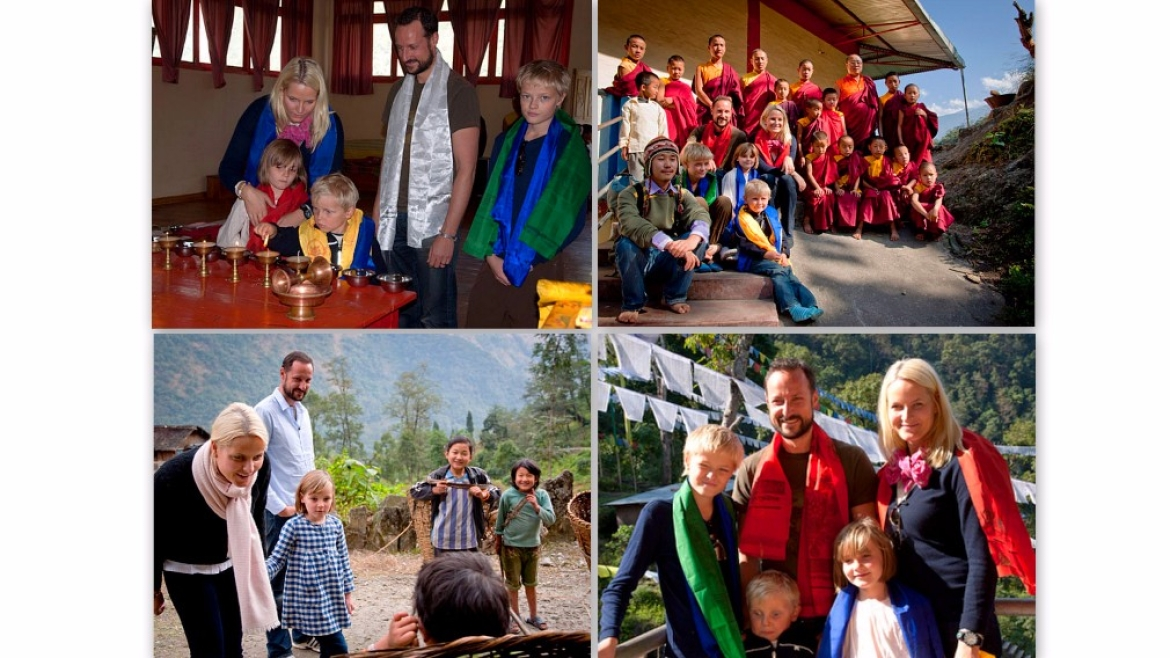 Prince of Norway, Haakon Magnus with his family in Sikkim