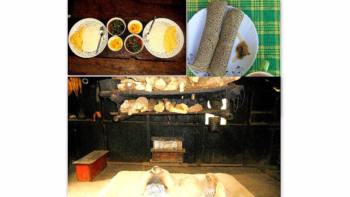 Traditional Lepcha food and kitchen