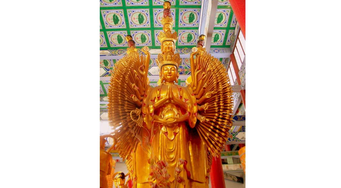 Sclupture of eleven-headed and thousand armed Avalokitesvara, China