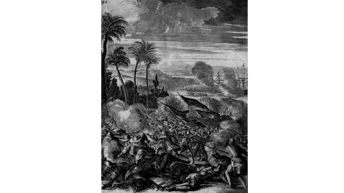 Battle in Malabar between the Dutch and the Portuguese in 1661