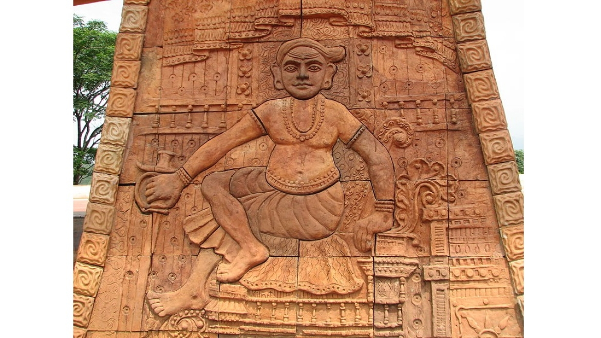 An artist's depiction of Pazhassi Raja at Wayanad