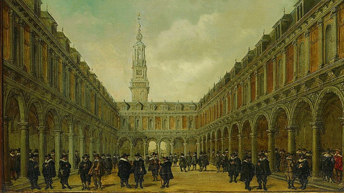 Painting of Amsterdam Stock Exchange from 1634