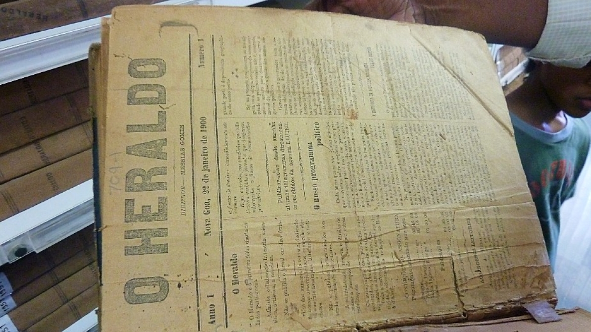 The newspaper 'O Heraldo' from 22nd January 1900