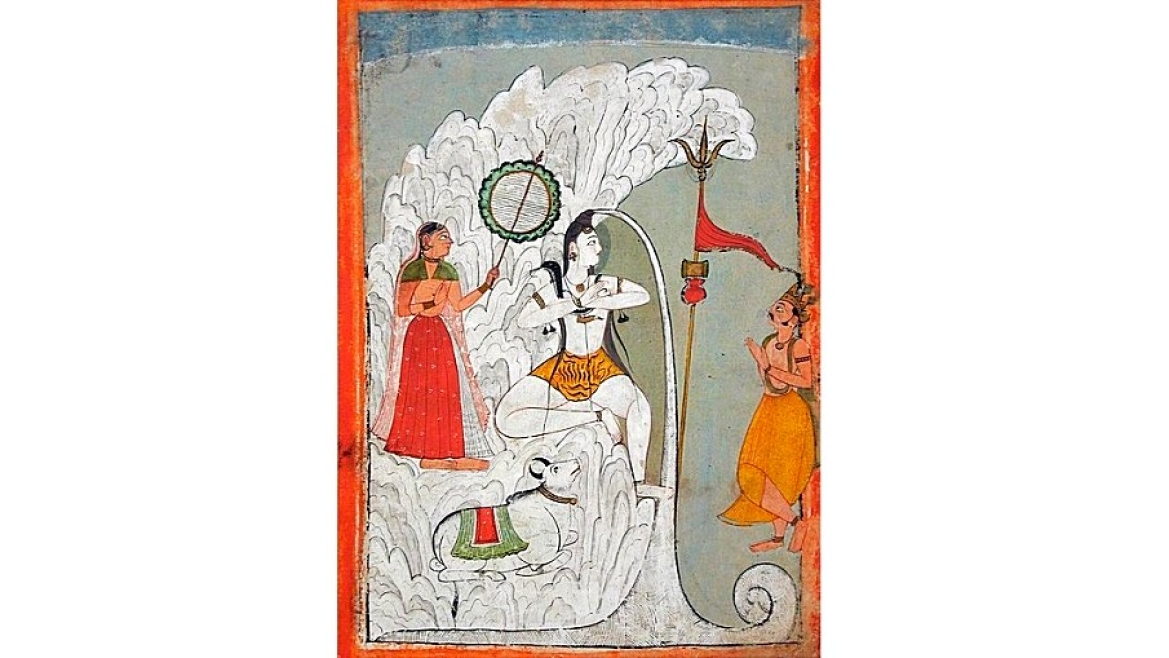 Shiva bearing the descent of Ganga river, 1740 CE