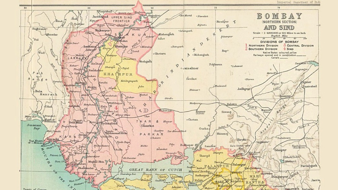 British map of the Sindh Province