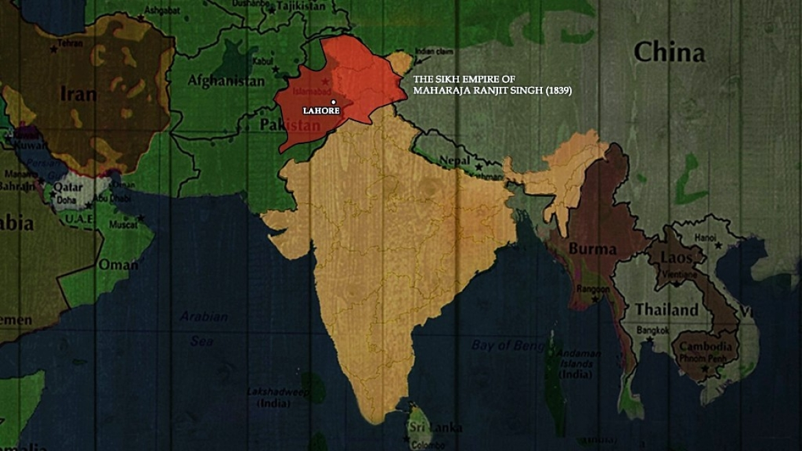The Sikh empire of Maharaja Ranjit Singh, 1839