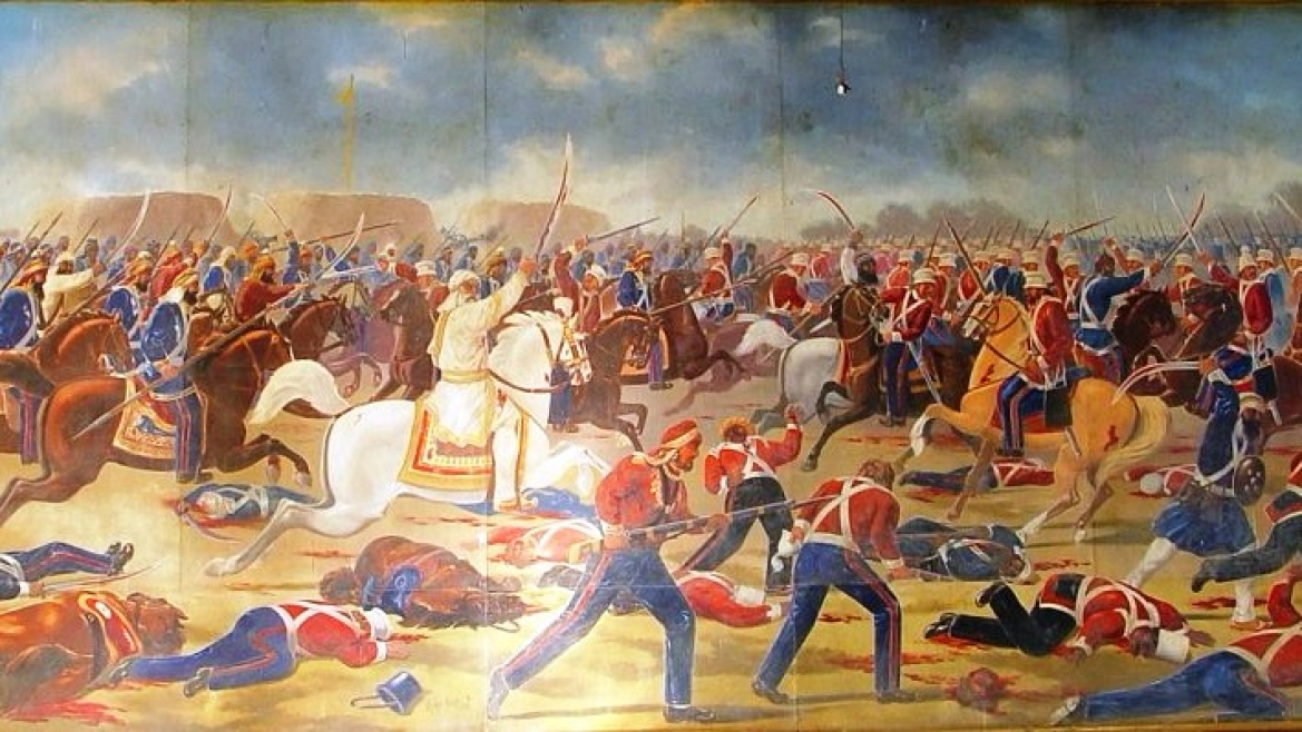 Ranjit Singh's army at the battle of Sobraon