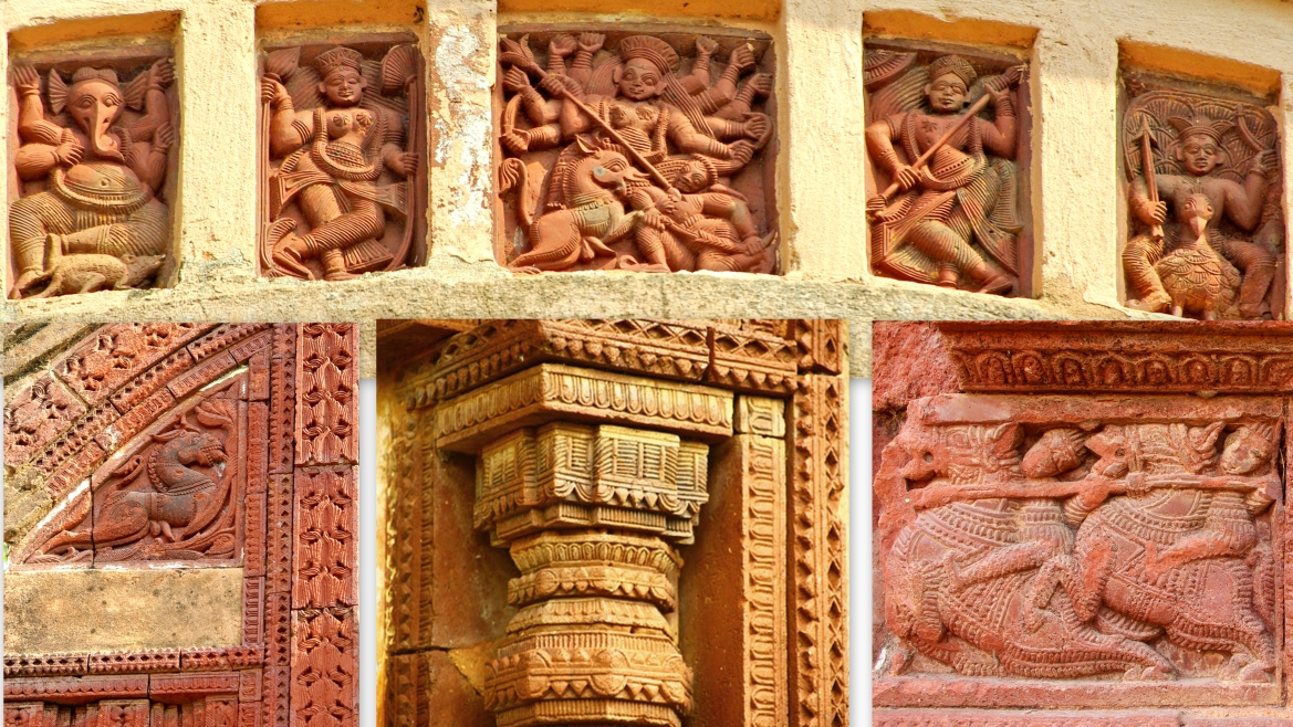 Various reliefs on the temple walls