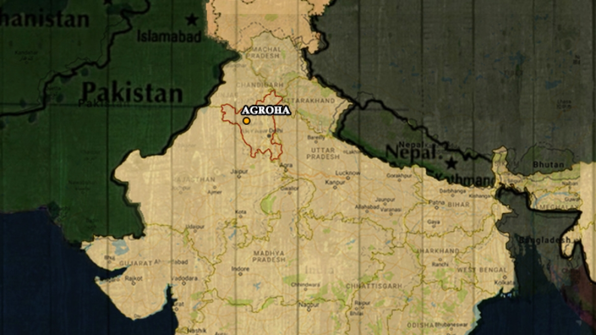 Map showing Agroha