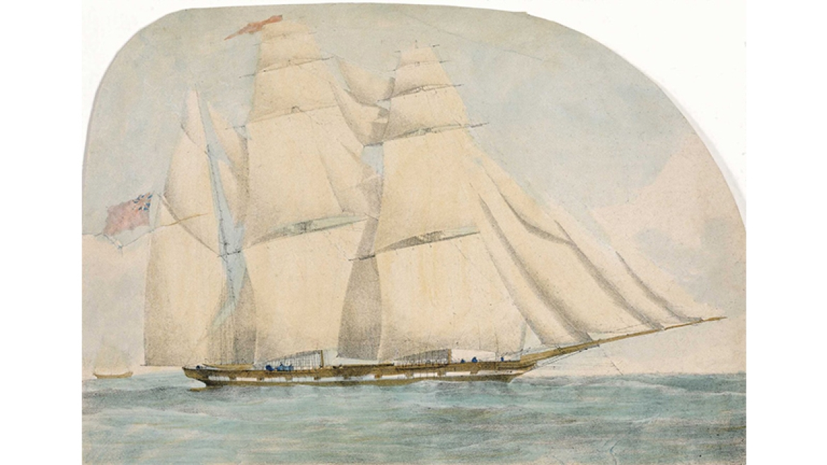 Water Witch - A Ship belonging to Carr tagore & Company