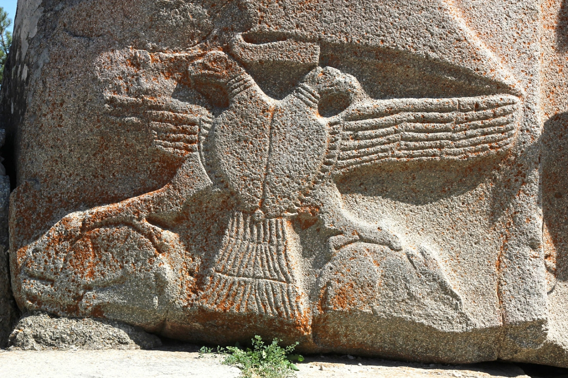 Double-headed eagle at Alaca Höyük,
