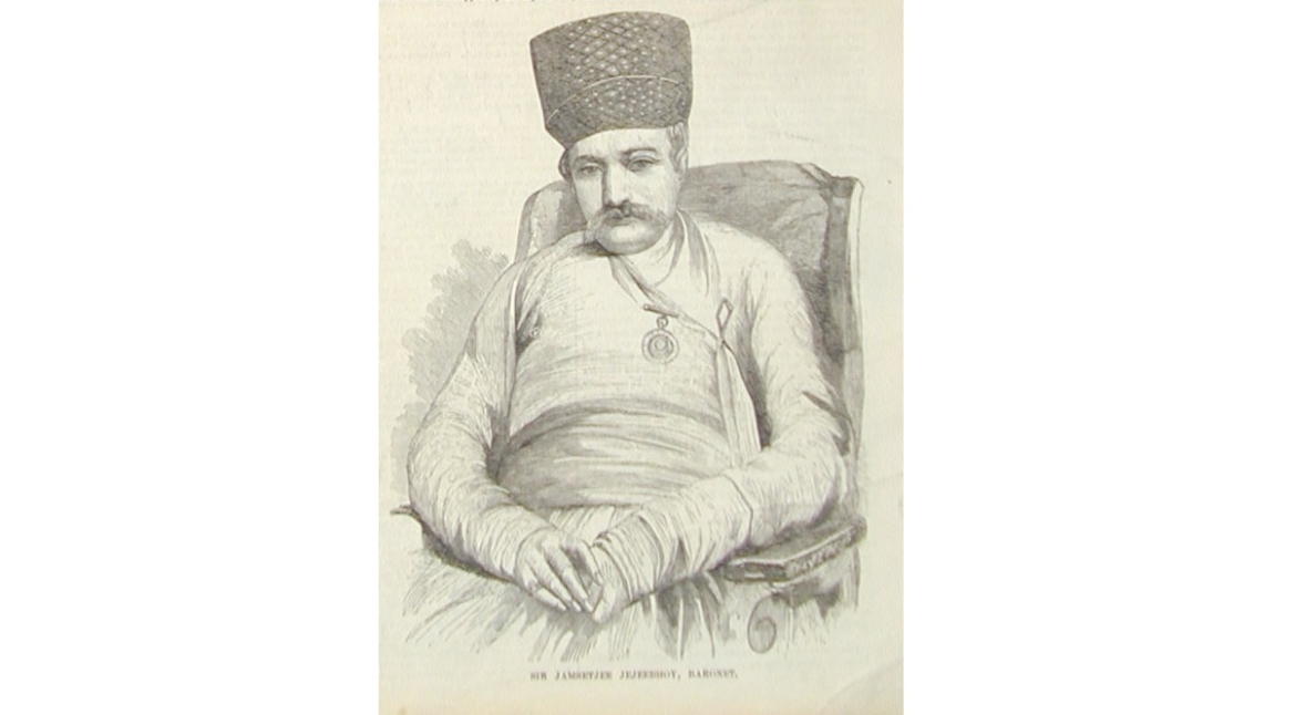 Sketch of Sir Jamsetjee Jeejeebhoy