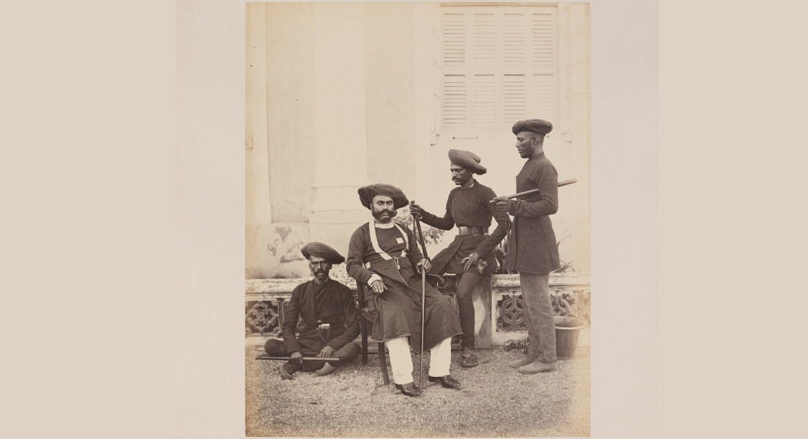 Photograph of the Bombay Police in the 19th century