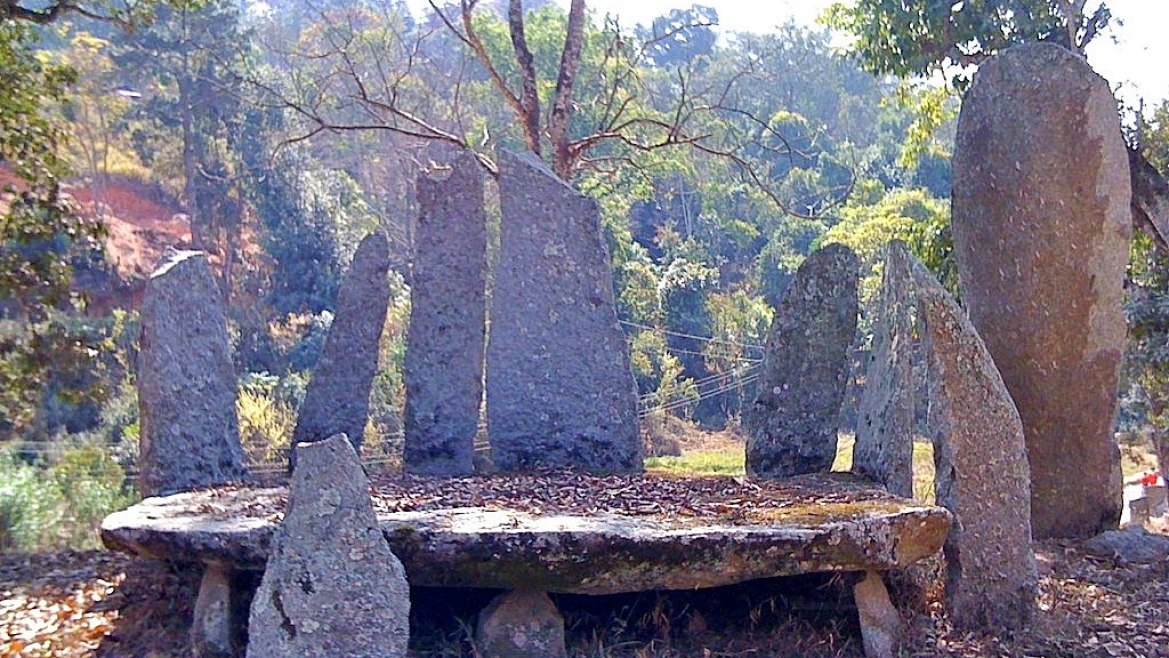 Nartiang megaliths consist of dolmens (flat stones in horizontal position)