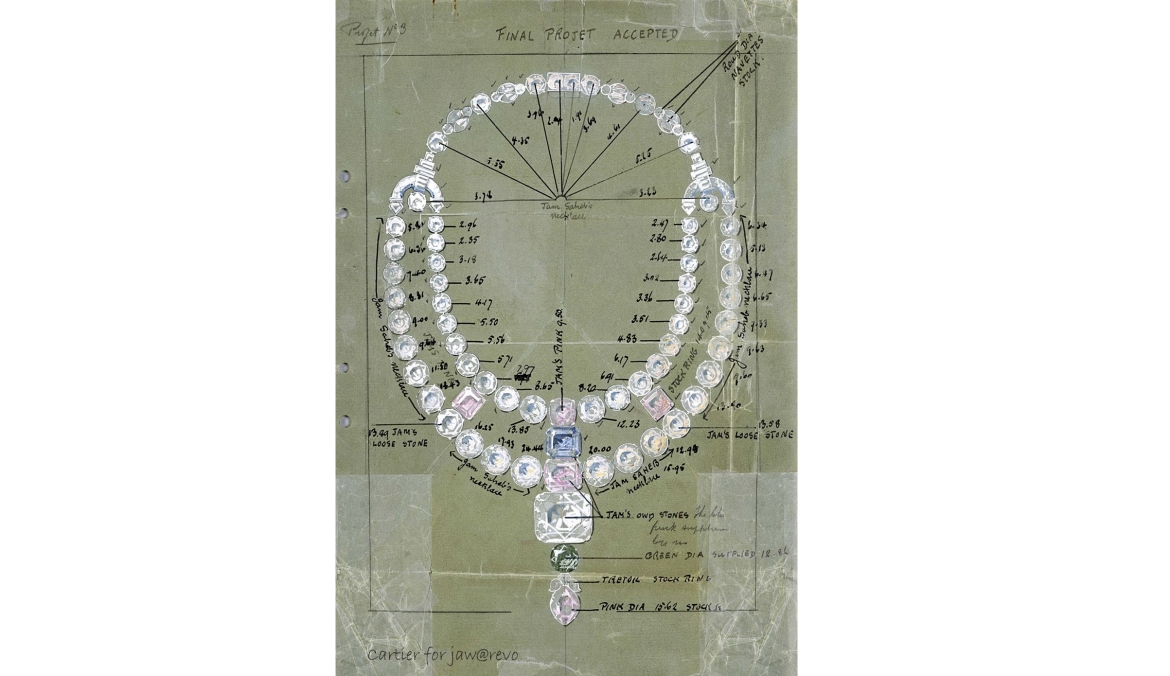 Cartier's design of the Nawanagar Necklace