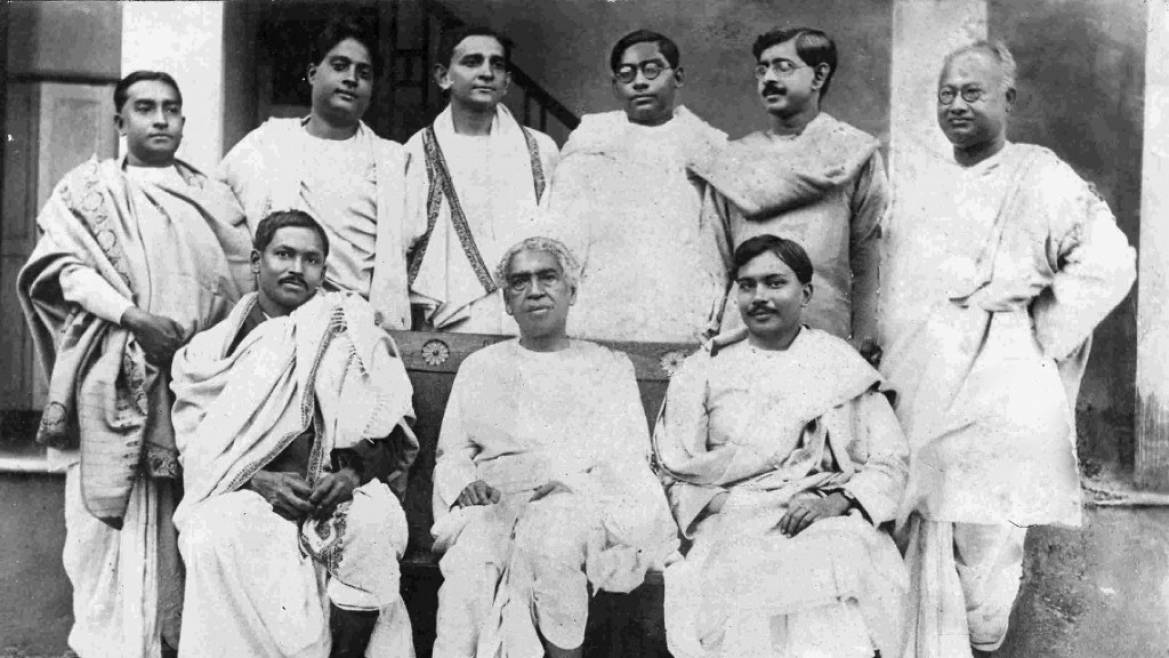SN Bose with other scientists at Calcutta University