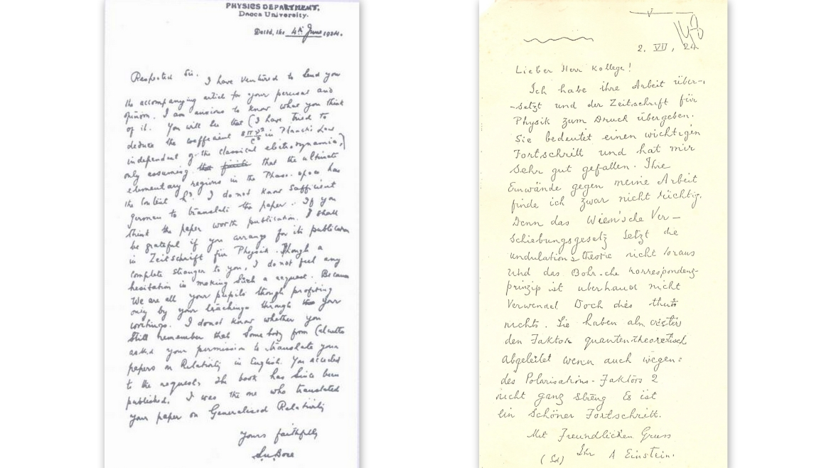 Letters exchanged between Bose and Einstein