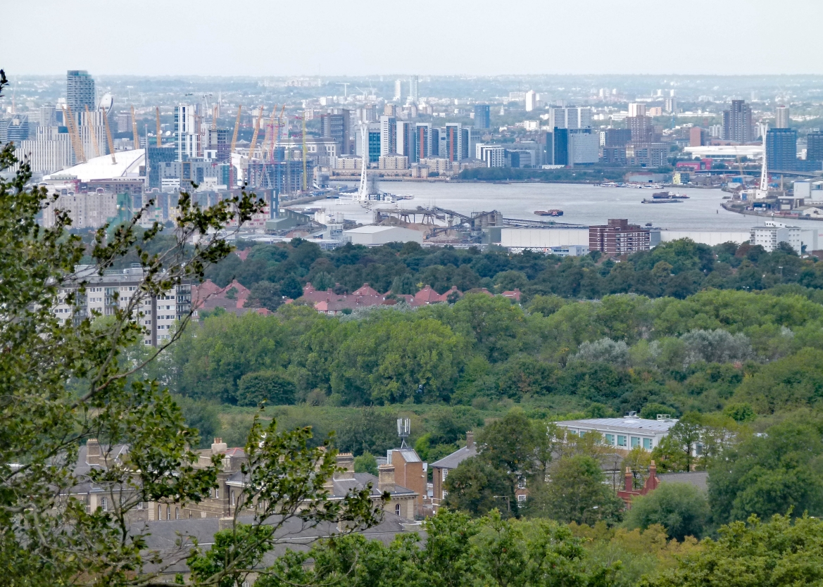 View from the top of the Severndroog Castle