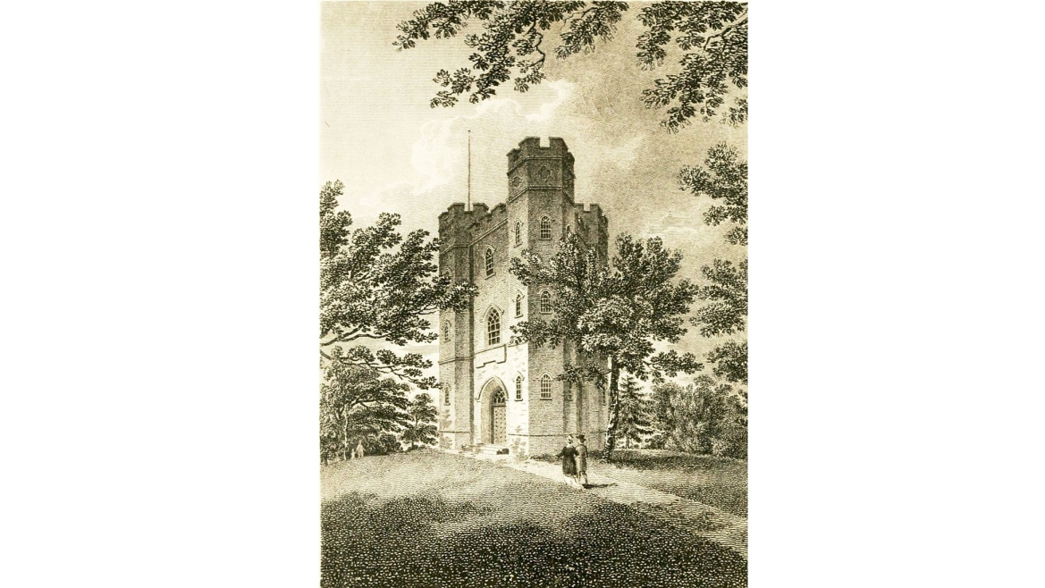 Historic photo of the Severndroog Castle