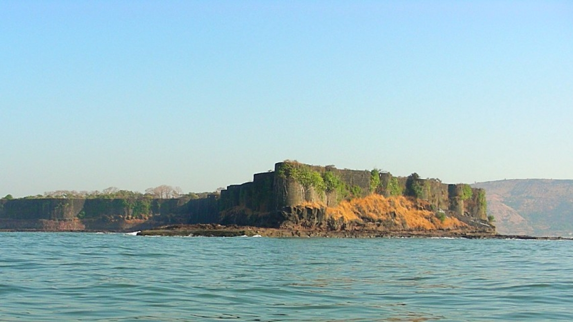 Suvarnadurg Fort, situated on the west coast of Maharashtra