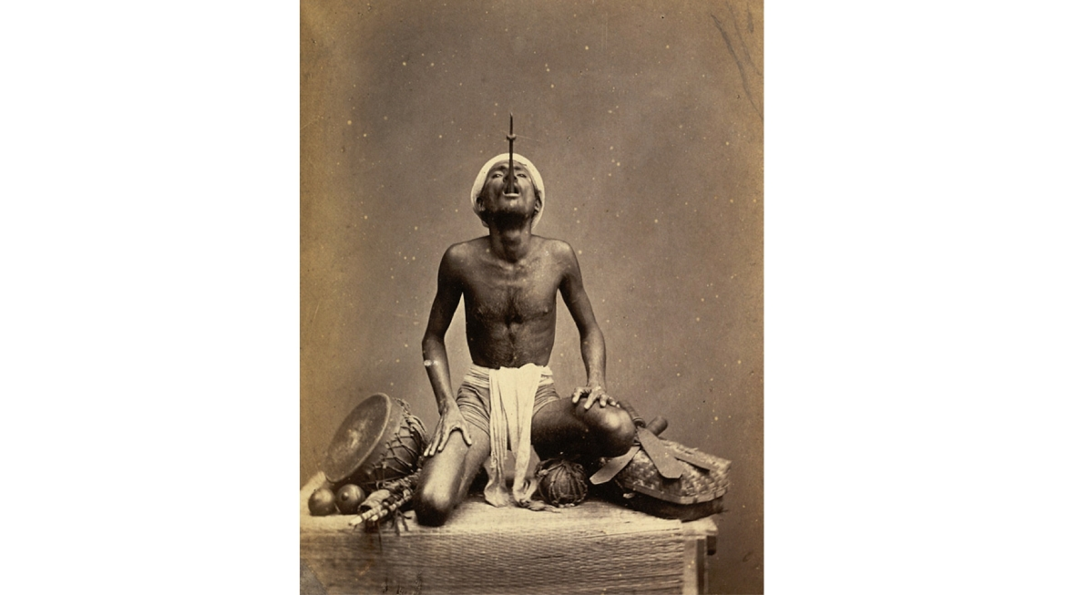 Sword Swallower, Madras,1870